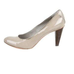 Costume National Jade patent leather pumps